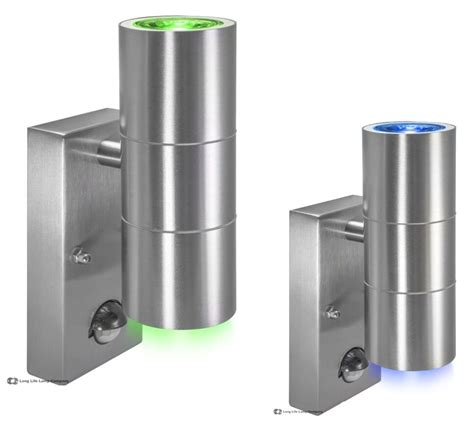 6w led coloured stainless steel up down outdoor wall light