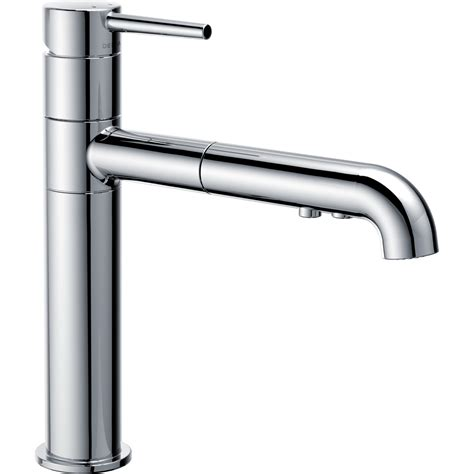 Handle Pull Out Kitchen Faucet by Delta Trinsic 174 Single Handle Pull Out Kitchen Faucet