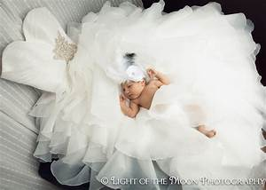 baby olivia in mommy39s wedding dress how cool is this With baby wedding dresses