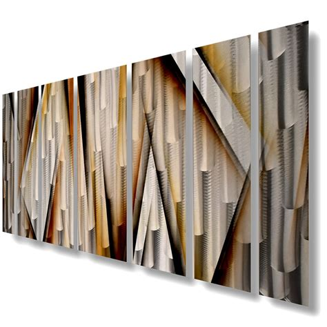 modern contemporary abstract metal wall sculpture brown painting home decor ebay