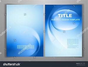 Blue Business Front Back Flyer Template Stock Vector