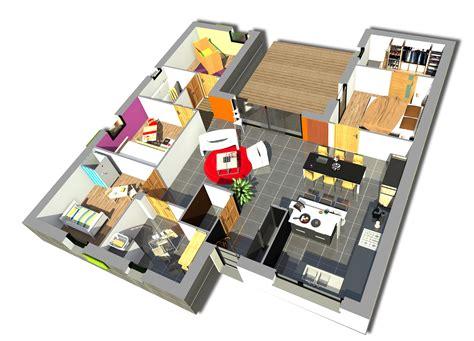 plan de maison contemporaine 4 chambres plan maison 4 chambres maison moderne