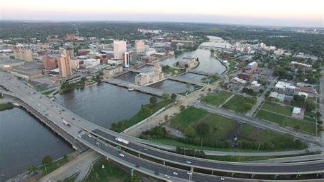 Cedar Rapids by Time Check Downtown Cedar Rapids Drone Footage Post Flood
