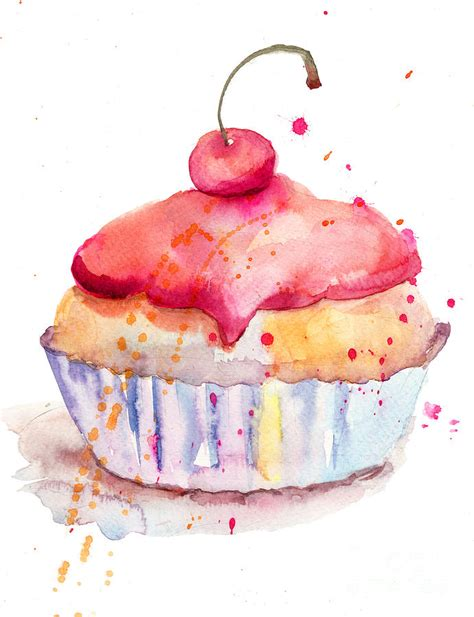 water color cake watercolor illustration of cake painting by jershova