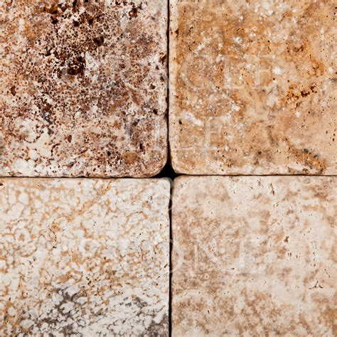Oracle Tile And Stone by Andean Cream Travertine 6 X 6 Tumbled Field Tile Oracle