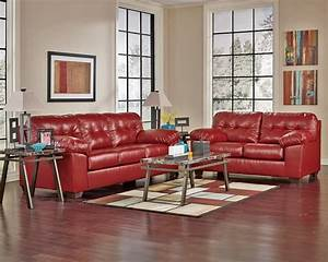 Ashley Furniture Alliston 20100 Salsa Red Sectional Chaise