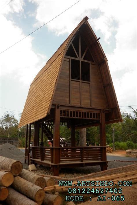 gazebo jinengan kayu kelapa rumah kayu tingkat jepara murah arts indo furniture jepara