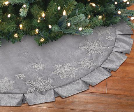 holiday time linen christmas tree skirt walmart canada
