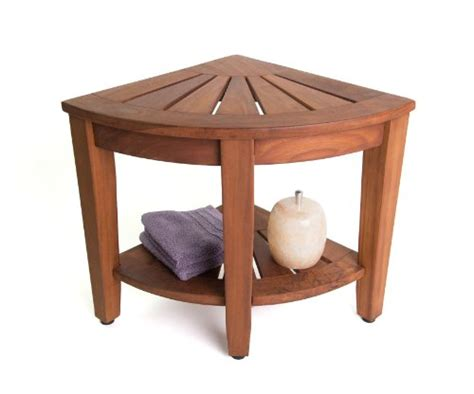 Teak Bath Shelf From The Corner Collection by 15 5 Teak Shower Bench With Shelf From The Corner