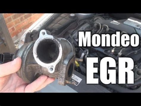 mondeo egr valve info cleaning operation youtube