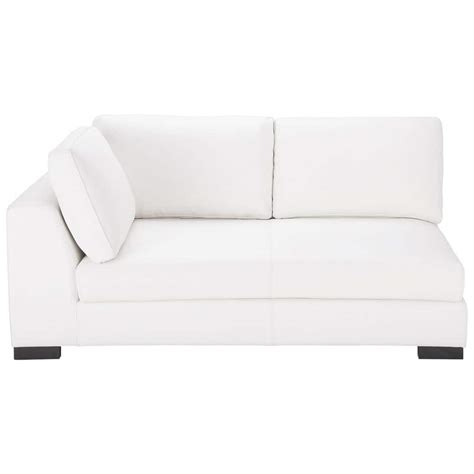 canapé modulable cuir canapé modulable gauche en cuir blanc terence maisons du