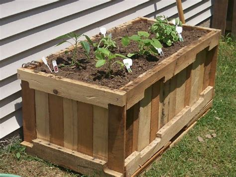 wood pallet garden planters pallet ideas recycled