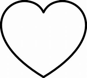 White Heart With Black Outline Clip Art at Clker.com ...