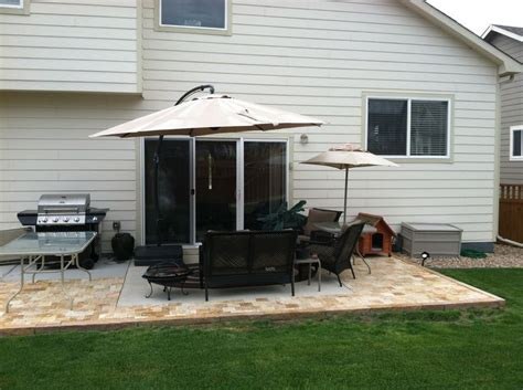 extending the patio with pavers yard