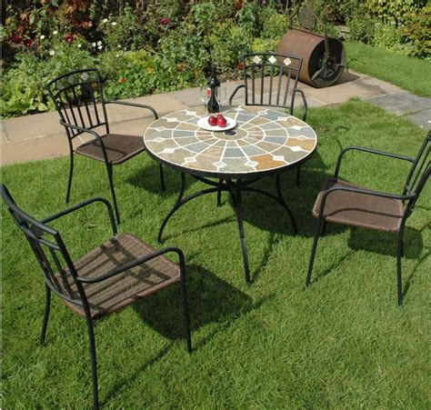 Garden Tables by Alicante 91cm Mosaic Garden Table 163 239 99