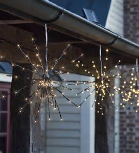 solar led twig starburst lights set of 2 holiday lighting