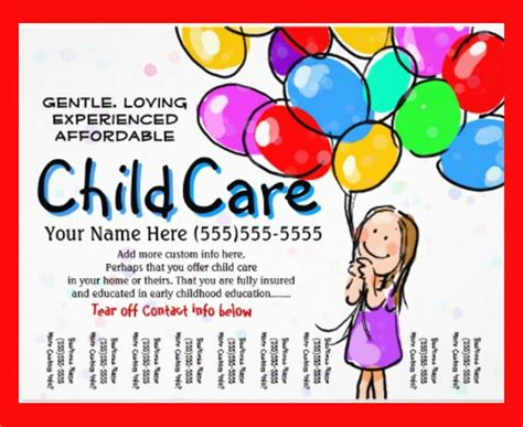 Free Childcare Templates Costumepartyrun - Free daycare flyer templates