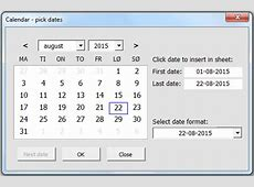 Calendar and date picker on userform VBA only, no ActiveX