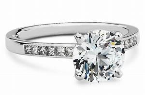 blue nile engagement rings channel set princess onewedcom With blue nile wedding ring sets