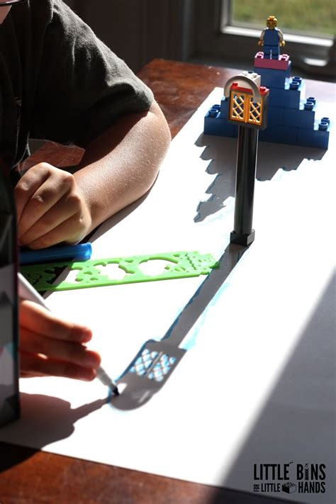 drawing shadows steam activity  lego  kids