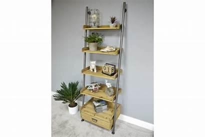 Ladder Industrial Shelves Shelving Pipe Wood Retro