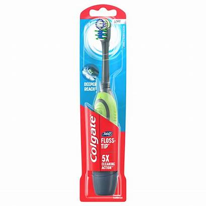 Colgate Toothbrush Floss Battery Tip Powered Soft