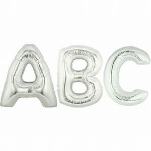 Balloon foil letter large silver foil balloons for Large foil letter balloons