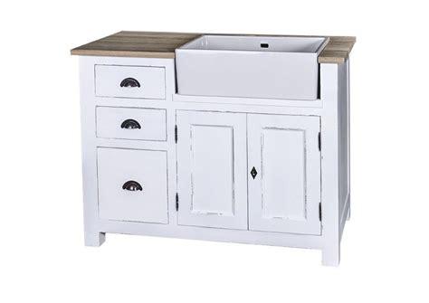 meuble cuisine evier acheter votre meuble de cuisine en pin massif avec évier blanc chez simeuble