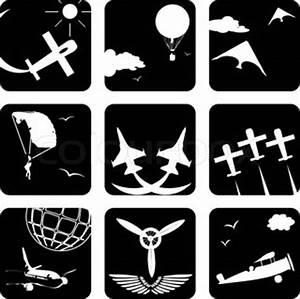 Symbole Für Unglück : symbole f r die luftfahrt stock vektor colourbox ~ Bigdaddyawards.com Haus und Dekorationen