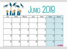 Junio Calendario escolar 20172018 para imprimir Escuela infantil y colegio Guia del Niño