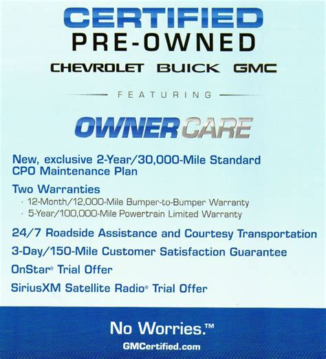 gm certified pre owned program offer gm
