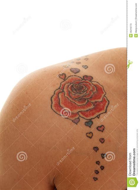 Tatouage Sur L épaule La Fin De Tatouage A Mont 233 Sur L 233 Paule Photos Stock Image 35216773