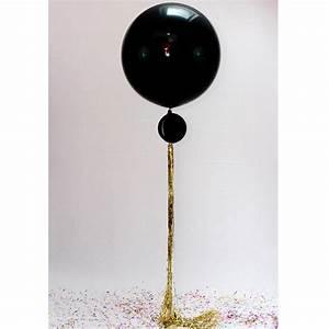 black gatsby giant balloon by bubblegum balloons With black jumbo letter balloons