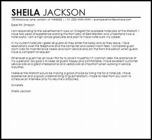 hotel job cover letter asliaetherairco With cover letter for hotel jobs