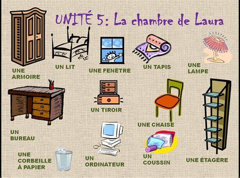 la chambre francés en el cole la chambre la maison et les