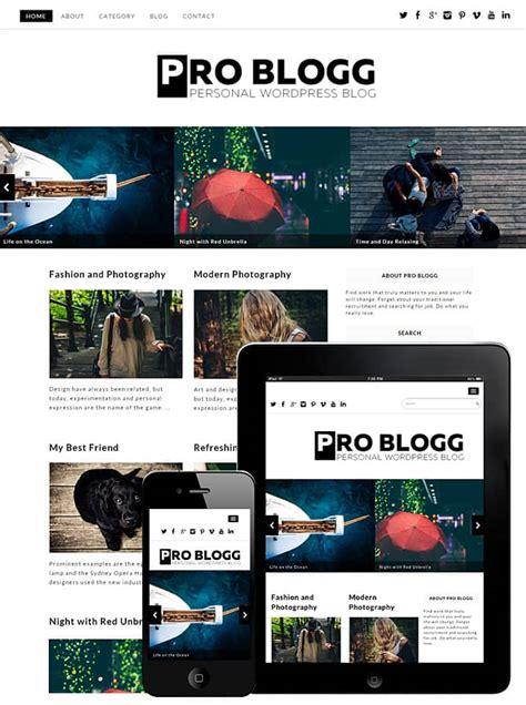 pro blogg wordpress theme  dessign themes