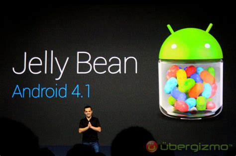 jelly bean android android 4 1 jelly bean new features and apps ubergizmo