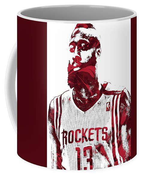 James Harden Houston Rockets Pixel Art – Ceramic 11Oz 15Oz ...