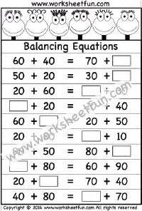 two digit subtraction without regrouping worksheet 2nd