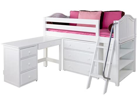 Low Loft Bed With Desk And Storage by Low Loft Bed With Storage Closet Shelf Plans