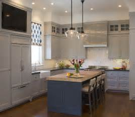 kitchen tv ideas blue kitchen island with maple butcher block transitional kitchen artistic designs for living
