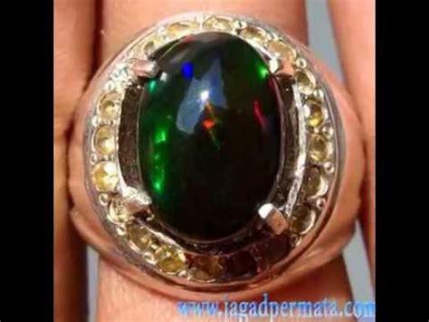 batu permata natural black opal kalimaya banten