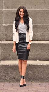 Trendy Leather Skirts Outfits for Women to Look Gorgeous ...