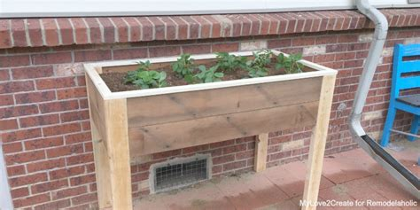 how to build planters for vegetables remodelaholic build an elevated planter box and save