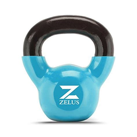 zelus cast iron vinyl coated kettlebell  womenmen workout  kettlebell kettlebell