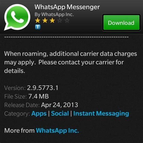 whatsapp updated    release  blackberry  bbin