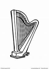 Harp Colouring Coloring Worksheet Primaryleap Printable sketch template