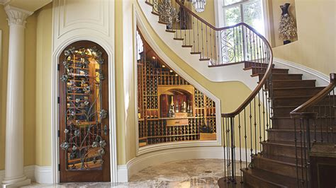 wine cellar built   stairs private cellars collecting wine spectator