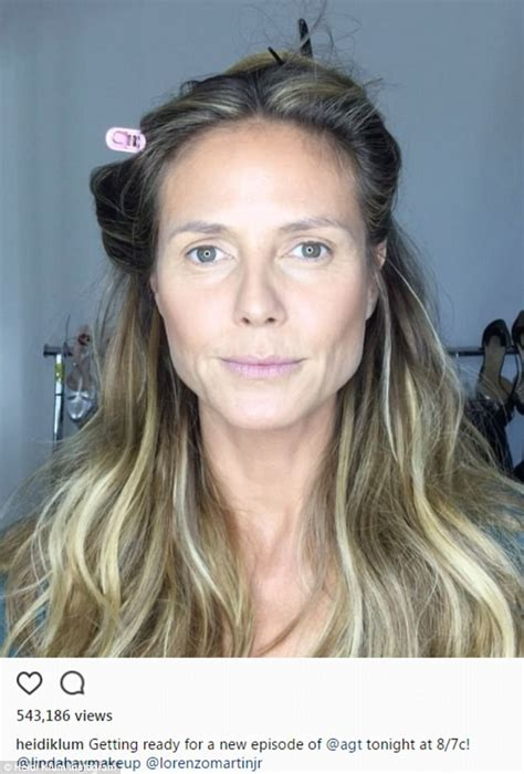 Heidi Klum posts sped-up video of hair and makeup process ...