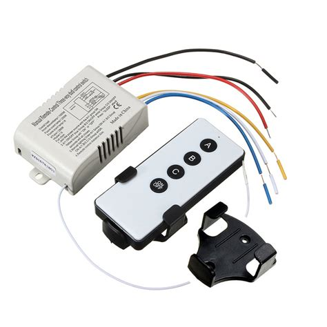 wireless light switch transmitter and receiver 3 way port on off wireless digital rf remote control
